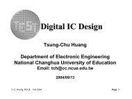 Digital IC Design