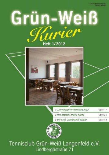 Heft 1/2012 - TC Grün-Weiß Langenfeld eV
