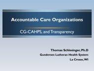 Accountable Care Organizations - UW Family Medicine