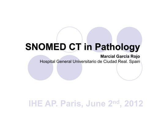 SNOMED CT in Pathology - IHE Wiki
