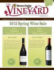 2012 Spring Vineyard - Brown Derby International Wine Center