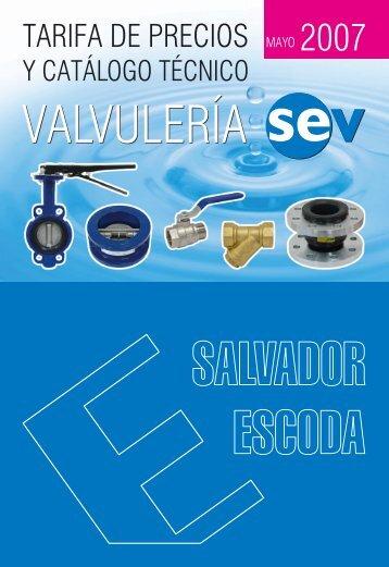 Tarifa de Precios - Valvulería SEV - Salvador Escoda SA