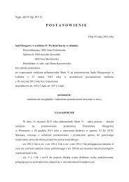 P O S T A N O W I E N I E - Sąd Okręgowy w Lublinie