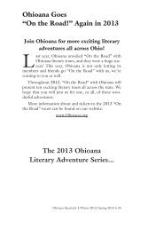 """Ohioana Goes """"On the Road!"""" Again in 2013 The ... - Ohioana Library"""
