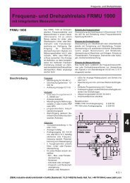 Frequenz- und Drehzahlrelais FRMU 1000 - drive-electric.hu