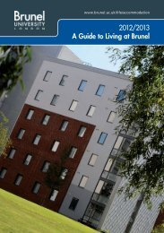 Living on campus - Brunel University