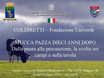 Intervento di Giuseppe Vadalà, Dirigente del CFS, sull - Fondazione ...