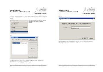 Handleiding voor de configuratie van uw e-mail in Outlook Express 6