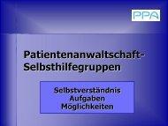 Vortrag Patientenanwalt Dr. Gerald Bachinger