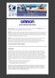 OMRON Products Launch Specials - HiTech Therapy