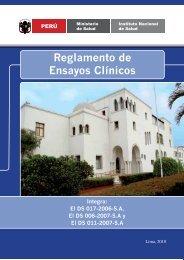 Reglamento de Ensayos Clínicos - Instituto Nacional de Salud