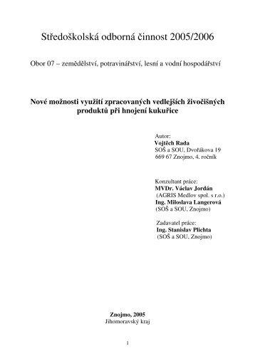 Text práce ve formátu PDF