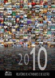 Relatório de Atividades e de Gestão 2010 - Câmara Municipal de ...
