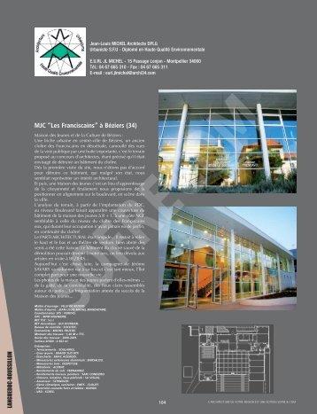 MICHEL Jean-Louis - Architecte D.P.L.G. - L'Architecture