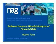 Software issues in wavelet analysis of financial data - Numerical ...
