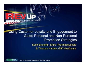 Using Customer Loyalty and Engagement to Guide ... - PMRG