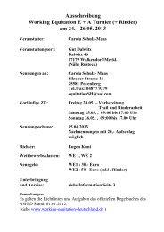 Ausschreibung Working Equitation E + A Turnier ... - FerienGut Dalwitz