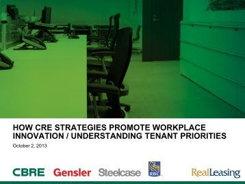 HOW CRE STRATEGIES PROMOTE WORKPLACE INNOVATION / UNDERSTANDING ...