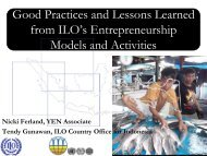 Good Practices and Lessons Learned from ILO's Entrepreneurship ...
