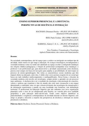 perspectivas de docência e interação