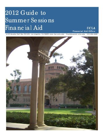 2012 Guide to Summer Sessions Financial Aid - UCLA Financial Aid ...
