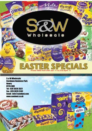 Prices Valid from 24th Jan '11 to 21st April ' - Savage & Whitten