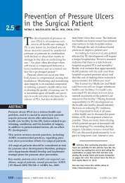 Prevention of Pressure Ulcers in the Surgical Patient - AORN