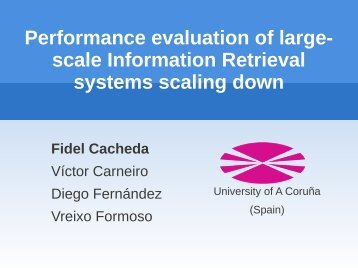 performance evaluation for large scale distributed
