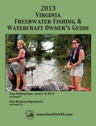 2013 Virginia Freshwater Fishing & Watercraft Owner's Guide