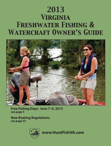 2013 Virginia Freshwater Fishing & Watercraft Owner's Guide