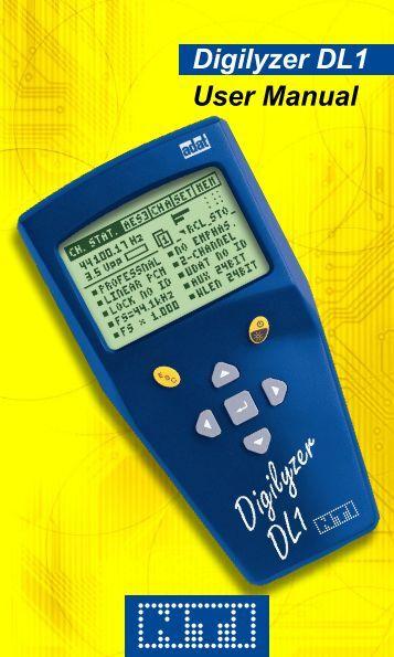 Digilyzer DL1 User Manual