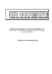 Tender Document - Tea Board of India