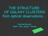The structure of galaxy clusters from optical observations