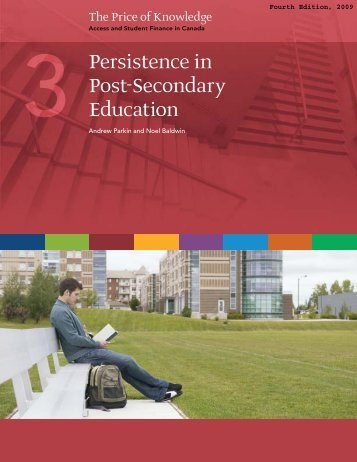 Persistence in Post-Secondary Education - Carleton University Library