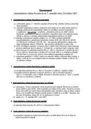 Usnesení ZM ze dne 23.05.2007 - Rousínov