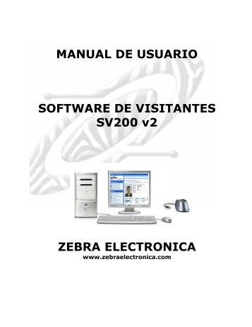 MANUAL SOFTWARE SV200 v2.pdf - Zebra Electronica