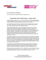 Virgin Mobile Teams Up With Unipart - creating ... - Unipart Logistics