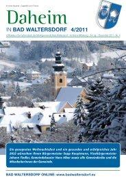 Ausgabe Dezember 2011 - Gemeinde Bad Waltersdorf