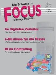 Im digitalen Zeitalter e-Business für die Praxis BI im Controlling Im ...