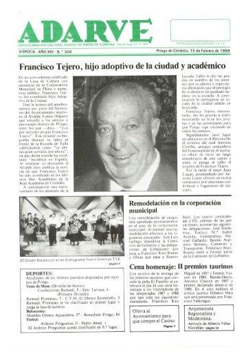 Francisco Tejero, hijo adoptivo de la ciudad y ... - Periódico Adarve