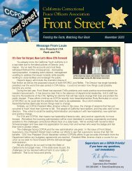 Download full issue (pdf) - California Correctional Peace Officers ...