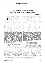 19. Le dialogue interculturel dans la perspective européenne