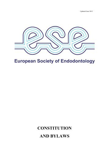 Constitution & Bylaws - the European Society of Endodontology