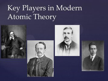 Key Players in Modern Atomic Theory - Cobb Learning