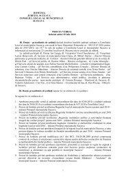 Proces verbal şedinţa din 29 iulie 2010 - Primăria Municipiului ...