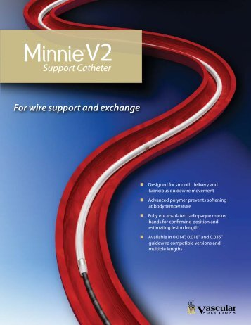 Minnie Brochure - Vascular Solutions, Inc.