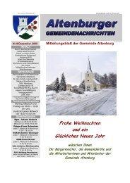 Gemeindenachrichten 09/2009 (3,06 MB) - Gemeinde Altenburg