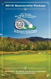 2010 Sponsorship Package - Gur Singh Invitational Golf Tournament