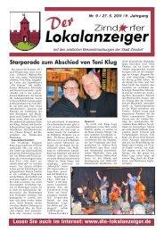 Starparade zum Abschied von Toni Klug - Lokal-Anzeiger