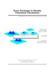 Exact Exchange in Density Functional Calculations